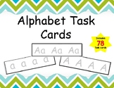 Alphabet Task Cards Includes 78 cards with Uppercase and L