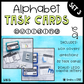 BUNDLE: Alphabet Task Cards ❘ Letter Recognition Assessments