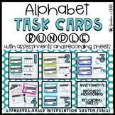 BUNDLE: Alphabet Task Cards ❘ Letter Recognition Assessments