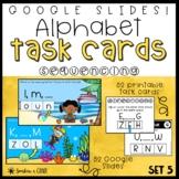 Google Slides   Alphabet Task Cards ❘ Missing Letter Sequencing