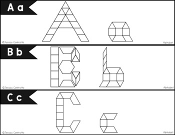 Alphabet Task Cards: Pattern Blocks