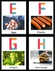 Letter Matching- Alphabet Task Cards (REAL LIFE IMAGES Food Edition)