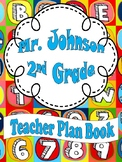 Alphabet Teacher Plan Book (Editable)