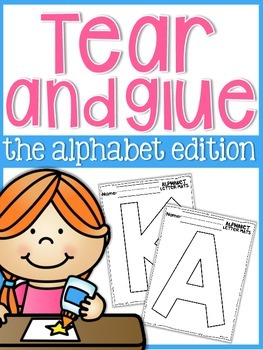 Alphabet Tear and Glue Mats