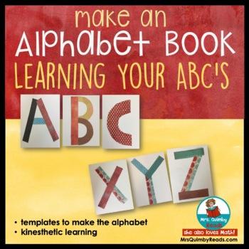 Alphabet Template to make an alphabet book - Preschoolers