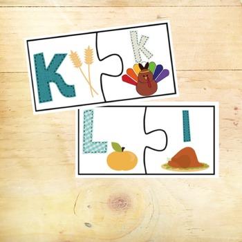 Alphabet Thanksgiving Center Activities