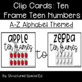 Alphabet Themed Ten/Teen Number Frames Clip Cards