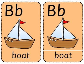 Alphabet Three Part Cards