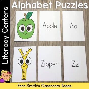 Alphabet Three Piece Puzzle Literacy Center