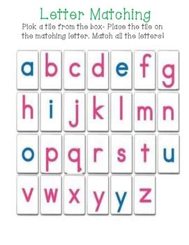 Alphabet Tile Matching Mat