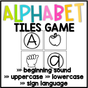 Alphabet Tile Puzzles