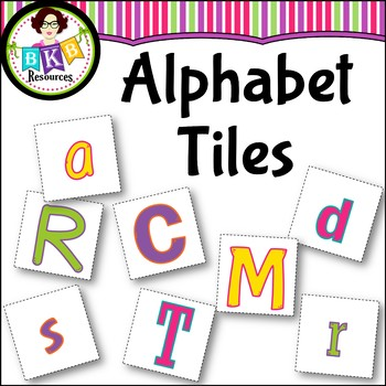 Alphabet Tiles ● Freebie ● Literacy Centers