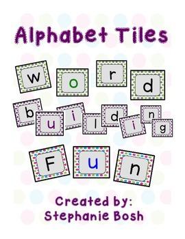 Alphabet Tiles - Word Building Tiles