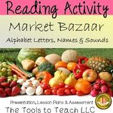 Market Bazaar Alphabet Letters Names & Sounds Interactive Whiteboard Activity