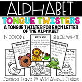 Alphabet Tongue Twister Charts {Color & B/W}