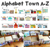Alphabet Town: Community Buildings Alphabet Game