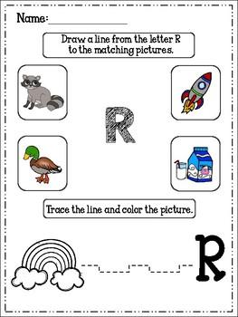 Alphabet Trace And Color Set 5