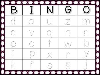 Alphabet Trace BINGO Bundle: Uppercase and Lowercase Letters