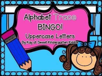 Alphabet Trace BINGO: Uppercase Letters