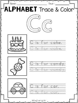 Alphabet Trace & Color