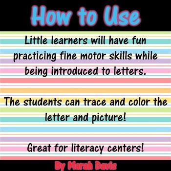 Alphabet Trace & Color - Prewriting Practice