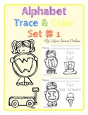 Alphabet Trace & Color Set 1