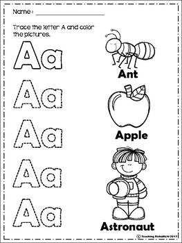 Alphabet Trace & Color Set 2