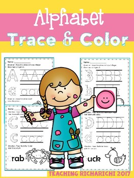 Alphabet Trace & Color Set 3