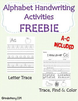 Alphabet Trace & Find Activities Ink Saver FREEBIE