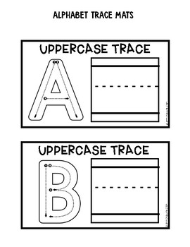 Alphabet Trace Mats: Uppercase Freebie