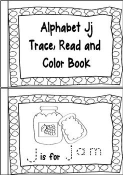 Alphabet Trace Read and Color Mini Books