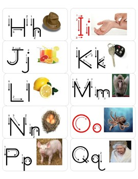 Alphabet Trace Rings