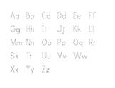 Alphabet Trace Worksheet