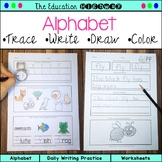 Alphabet Trace, Write, Draw, and Color