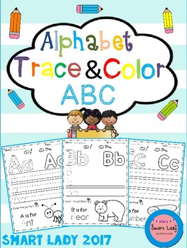Alphabet Trace and Color (Set 2)