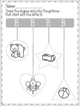 Alphabet Trace and Color Set 4