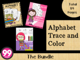 Alphabet Trace and Color The Bundle by 99 Children