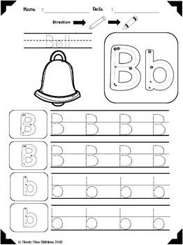 Alphabet Trace and Color part 2