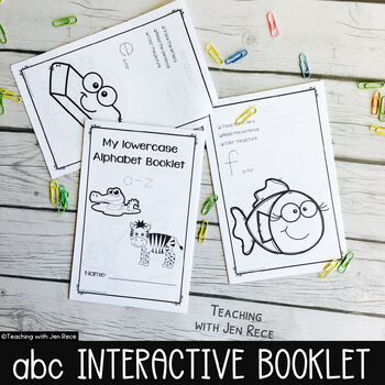 Alphabet Trace and Print Activity Booklet {lowercase letters}