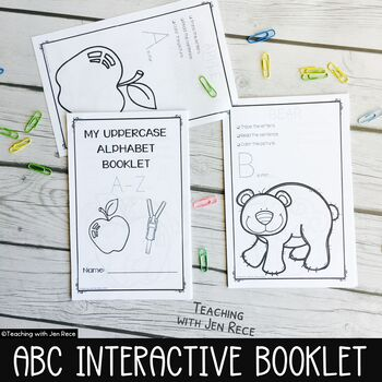 Alphabet Trace and Print Booklet {UPPERCASE letters}