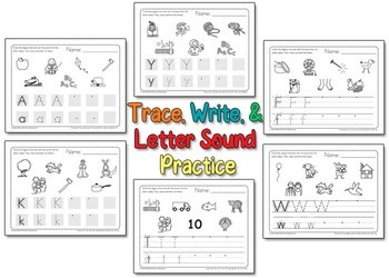 Alphabet Trace and Sound Circle Practice