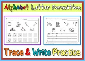 Alphabet Trace and Sound Circle Practice - Heidi Songs