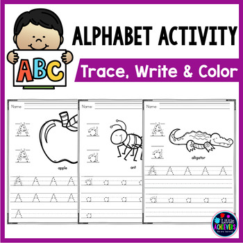 Alphabet Worksheets Trace and Write