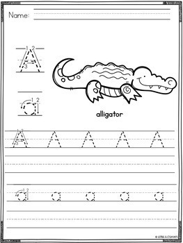 Alphabet Letters Tracing   Letter Recognition Activity