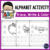 Alphabet Tracing Worksheets | Letter Recognition Activity