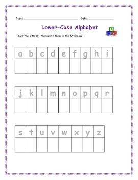 Alphabet Trace and Write - English