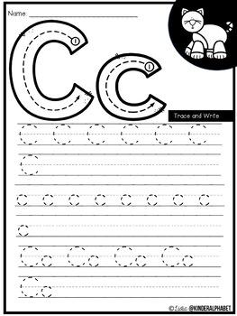 Alphabet Trace and Write {English plus Free Spanish version}