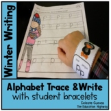 Winter Alphabet Trace and Write (with bracelets)