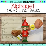 Elves Alphabet Trace and Write (with Bracelets)