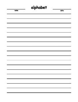 Alphabet Trace (blank) English